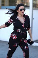 Pregnant EVA LONGORIA Arrives at E Baldi in Beverly Hills 01/25/2018