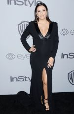 Pregnant EVA LONGORIA at Instyle and Warner Bros Golden Globes After-party in Los Angeles 01/07/2018