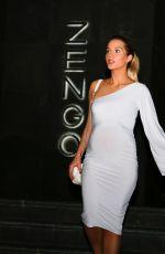 Pregnant HELEN FLANAGAN at Zengo Restaurant at Le Royal Meridien Hotel in Dubai 01/08/2018