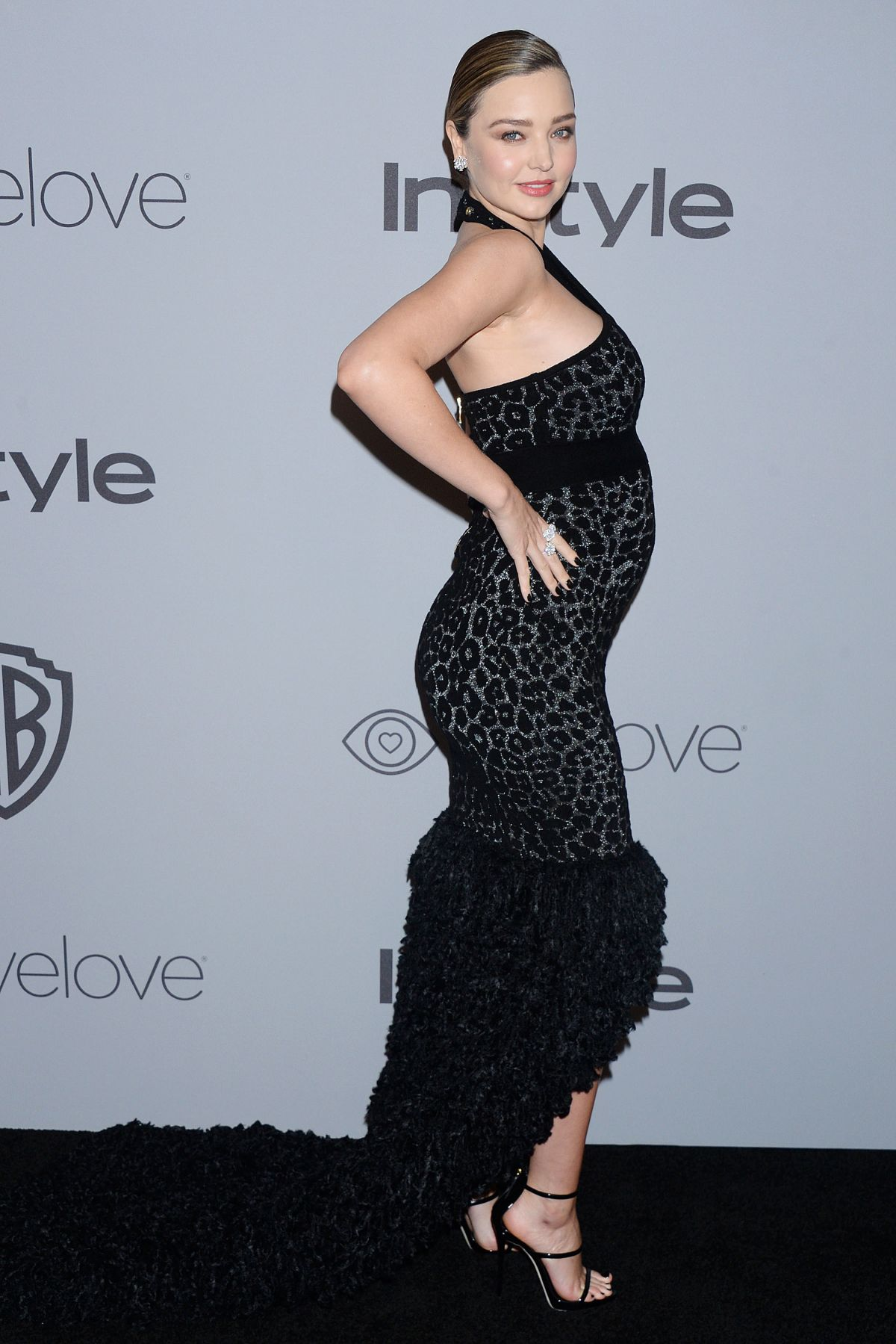 Pregnant MIRANDA KERR at Instyle and Warner Bros Golden Globes After ...
