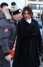 PRIYANKA CHOPRA on the Set of Quantico in Madison Square Park in New York 01/15/2018