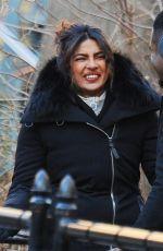 PRIYANKA CHOPRA on the Set of Quantico in New York 03/01/2018
