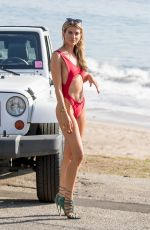 RACHEL MCCORD in Swimsuit on the Set of a Photoshoot in Malibu 01/18/2018