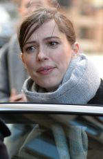 REBECCA HALL Out and About in New York 01/24/2018
