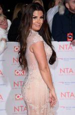 REBEKAH VARDY at National Television Awards in London 01/23/2018