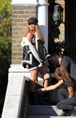 REBEKAH VARDY on the Set of a Photoshoot in London 01/02/2018