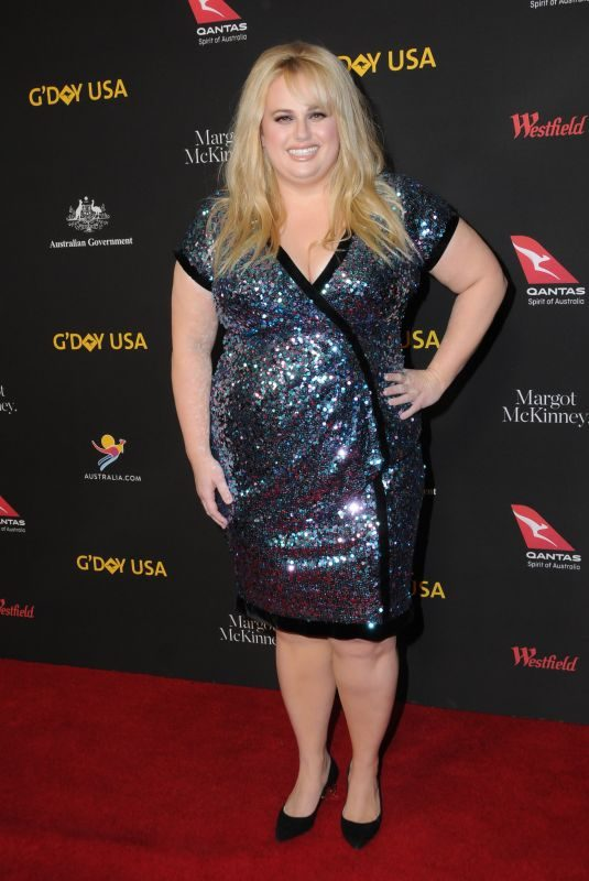 REBEL WILSON at 15th Annual G'Day USA Los Angeles Black Tie Gala 01/27/2018