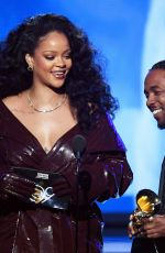RIHANNA and Kendrick Lamar at Grammy 2018 Awards in New York 01/28/2018