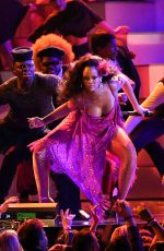 RIHANNA Performs at 60th Annual Grammy Awards in New York 01/28/2018