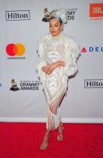 RITA ORA at Clive Davis and Recording Academy Pre-Grammy Gala in New York 01/27/2018