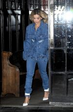 RITA ORA in Jeans Out in New York 01/30/2018