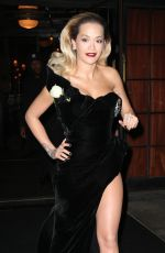 RITA ORA Leaves Bowery Hotel in New York 01/28/2018