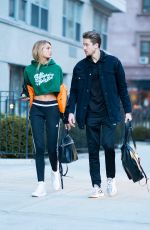 ROMEE STRIJD and Laurens Van Leeuwen Out in New York 01/15/2018