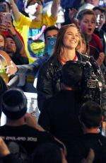 RONDA ROUSEY Signs Contract at WWE Royal Rumble in Philadelphia 01/28/2018