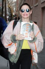 ROSE MCGOWAN Arrives at The View in New York 01/30/2018