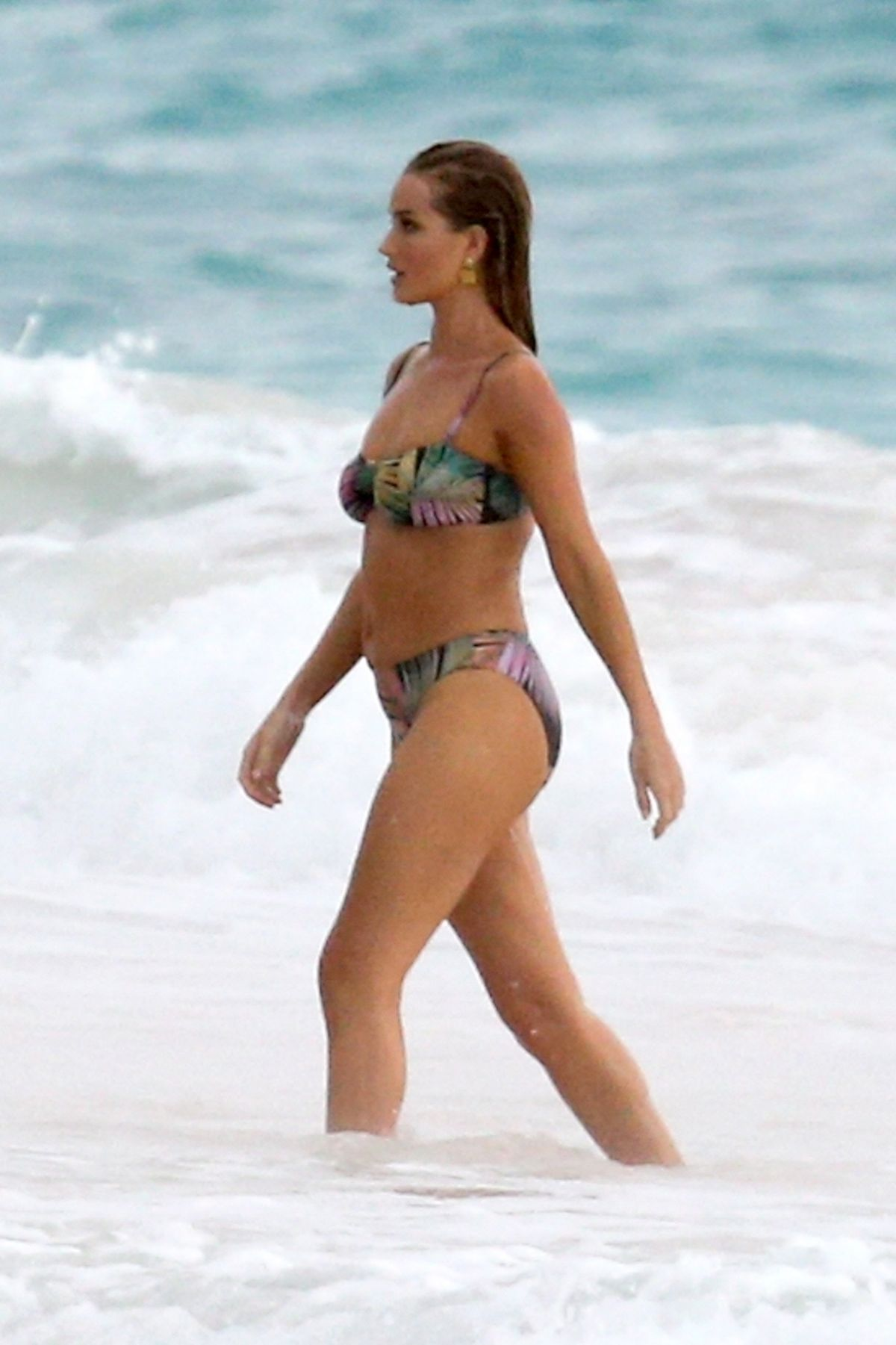 Rosie Huntington Whiteley Bikini Photoshoot at a Beach in the Bahamas