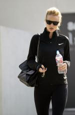 ROSIE HUNTINGTON-WHITELEY Leaves a Gym in Los Angeles 01/02/2018