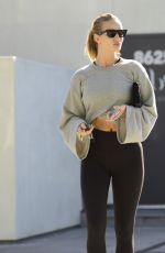 ROSIE HUNTINGTON-WHITELEY Leaves Body by Simone Fitness Club in Los Angeles 01/14/2018