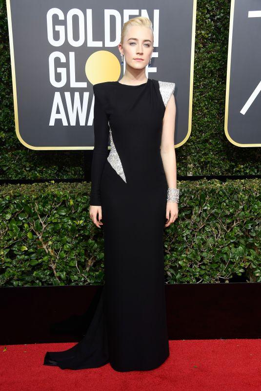 SAOIRSE RONAN at 75th Annual Golden Globe Awards in Beverly Hills 01/07/2018