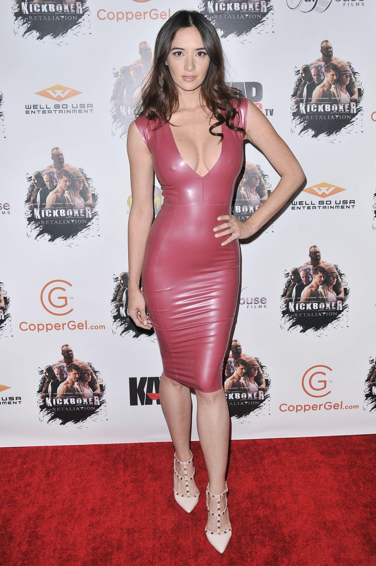 Sara Malakul Lane in Leather Dress at ArcLight in