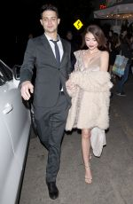SARAH HYLAND and Wells Adam Leaves a Private Party in West Hollywood 01/2018