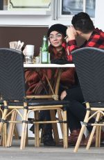 SARAH HYLAND and Wells Adams Out for Coffee in Los Angeles 01/09/2018