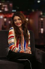 SARAH HYLAND at Jimmy Kimmel Live! in Los Angeles 01/23/2018