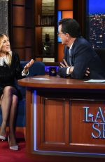SARAH JESSICA PARKER at Late Show with Stephen Colbert 01/10/208