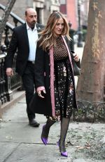 SARAH JESSICA PARKER Leaves Her Apartment in New York 01/19/2018