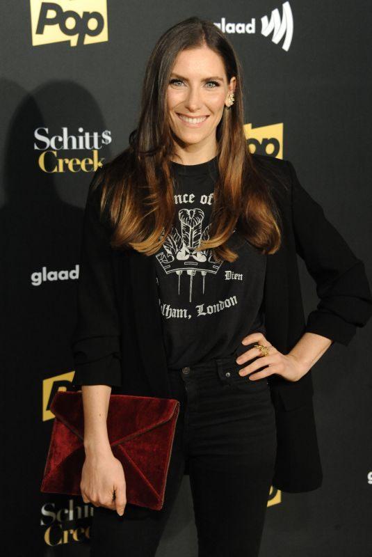 SARAH LEVY at Schitt's Creek Season 4 Premiere in Hollywood 01/16/2018