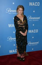 SARAH MINNICH at Waco World Premiere in New York 01/22/2018