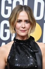SARAH PAULSON at 75th Annual Golden Globe Awards in Beverly Hills 01/07/2018