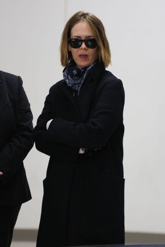 SARAH PAULSON at Los Angeles International Airport 01/02/2018