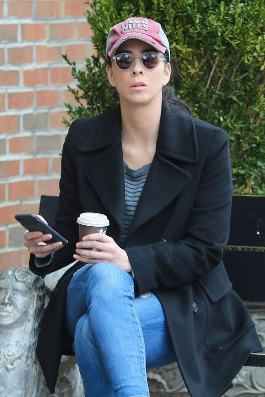 SARAH SILVERMAN Out for Coffee in New York 01/11/2018