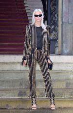 SASHA LUSS at Balmain Homme Show at Paris Fashion Week 01/20/2018