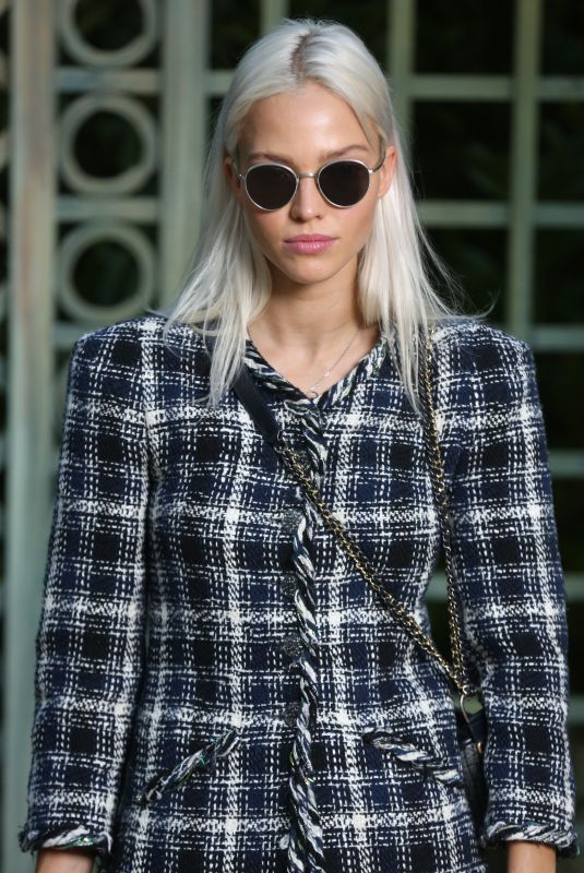 SASHA LUSS at Chanel Show at Spring/Summer 2018 Haute Couture Fashion Week in Paris 01/23/2018