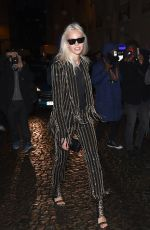 SASHA LUSS Out and About in Paris 01/20/2018
