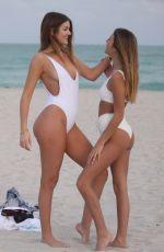 SAVANNAH @sassysavss CACHE and HANNAH MAHANTI in Swimsuits on the Beach in Miami 01/18/2018