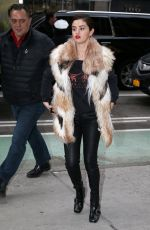SELENA GOMEZ Heading to a Recording Studio in New York 01/16/2018