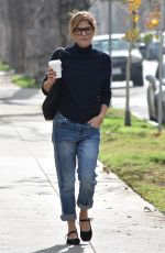SELMA BLAIR in Jeans Out in Beverly Hills 01/16/2018