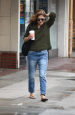 SELMA BLAIR Leaves Local Gas Station in Studio City 01/08/2018