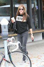 SELMA BLAIR Out for Coffee in Studio City 01/03/2018