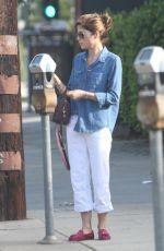 SELMA BLAIR Pay Parking Meter in Los Angeles 01/04/2018