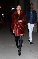 SHANINA SHAIK Leaves Republic Records Party in New York 01/26/2018