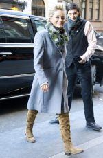 SHARON STOEN Arrives at Her Hotel in New York 01/18/2018