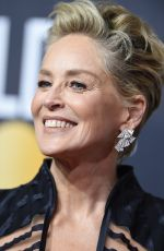 SHARON STONE at 75th Annual Golden Globe Awards in Beverly Hills 01/07/2018
