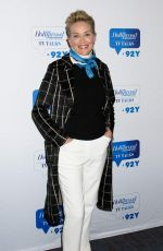 SHARON STONE at 92Y in New York 01/16/2018