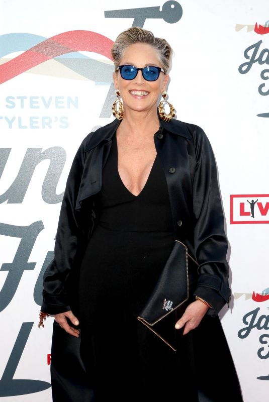 SHARON STONE at Steven Tyler and Live Nation Presents Inaugural Janie's Fund Gala and Grammy