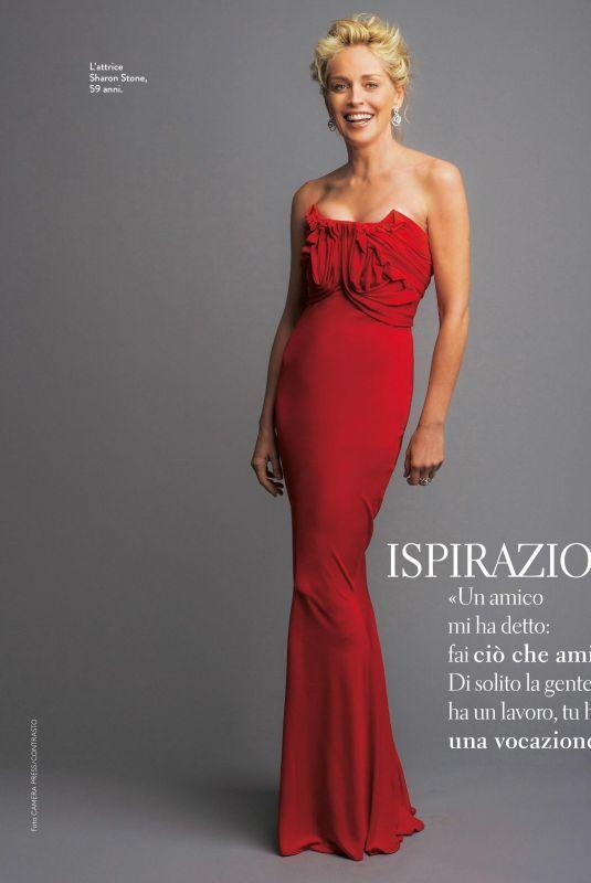 SHARON STONE in Grazia Magazine, Italy January 2018