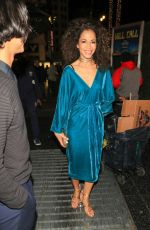 SHERRI SAUM Leaves Black Panther Premiere in Hollywood 01/29/2018